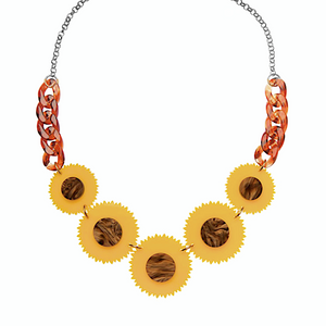 Sunflowers Necklace by Sugar and Vice