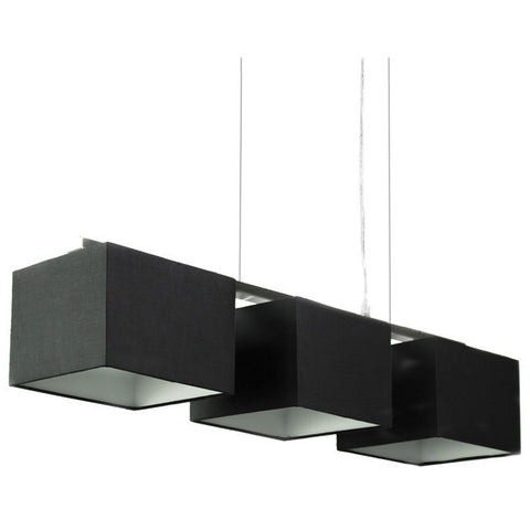 Godwin Black Black Square Trio Pendant Lights