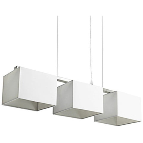 Godwin White White Square Trio Pendant Lights