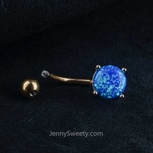 Blue Opal Belly Ring Belly Button Piercing