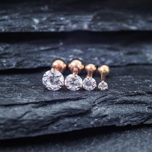 Gold Zircon Cartilage Earrings Helix Earring Helix Piercing Tragus Earrings Tragus jewelry