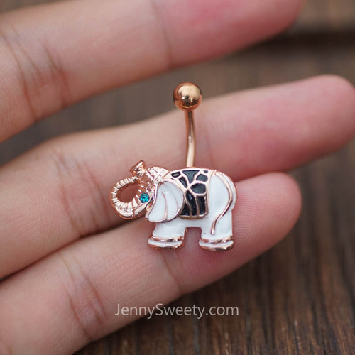 Elephant Belly Button Ring Belly Button Piercing Belly Rings Navel Rings