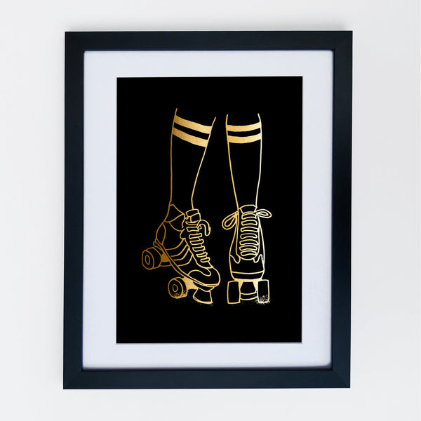Roller Disco Print Black / Gold Limited Edition