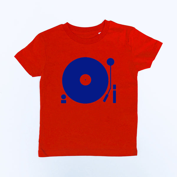 Turntable Kids T-shirt Red