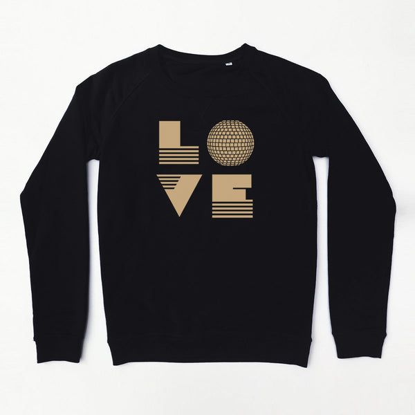 Love Is Black / Gold Ladies Sweatshirt