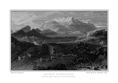 H. W. Williams: Mount Parnassus, from the walls of Panopeus-Ariston Books
