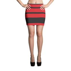 Black and Red Mini Skirt