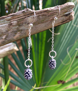 Antique Silver-plated  Pinecones