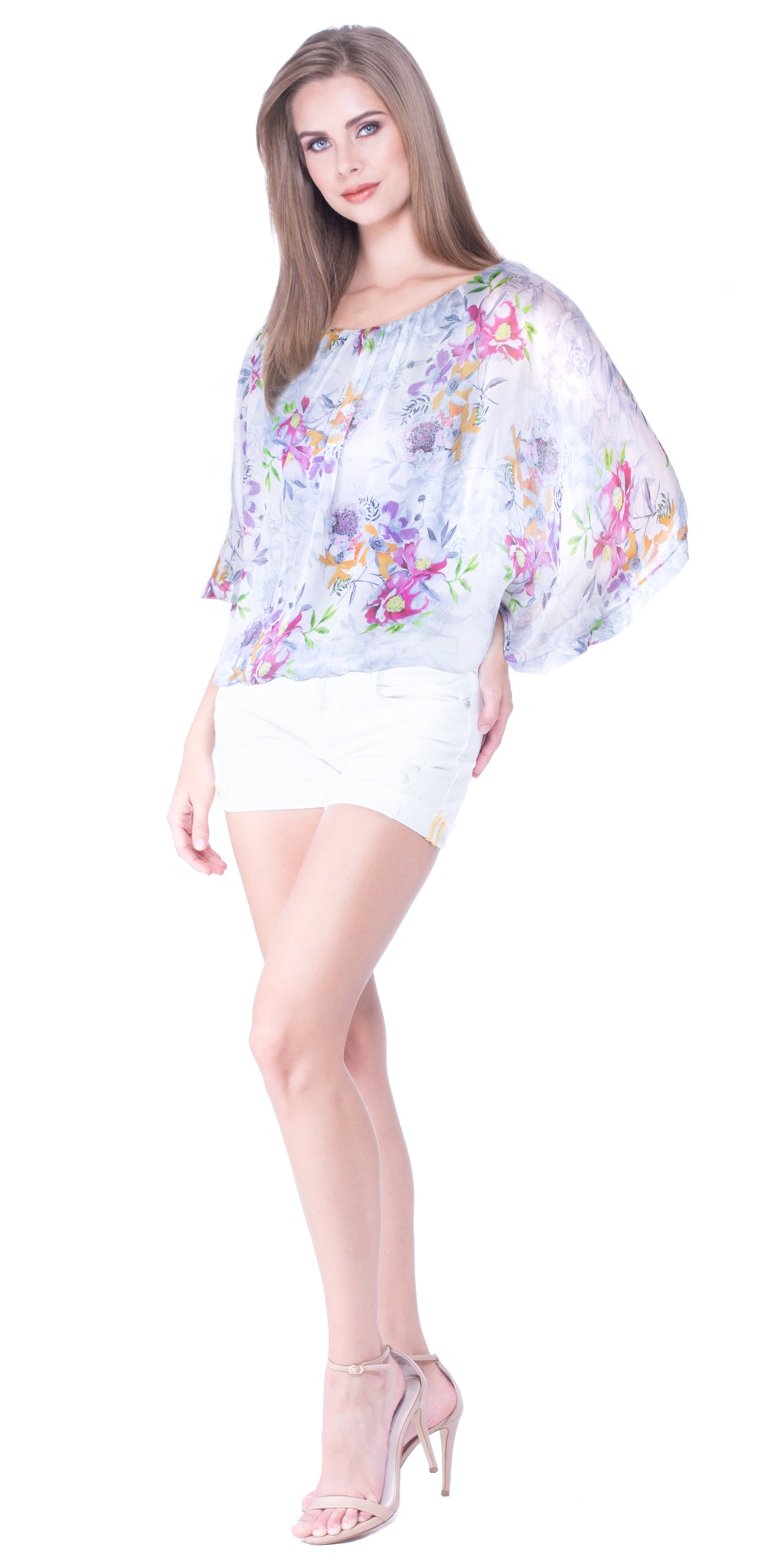 Mariah Silk Overlayer Blouse
