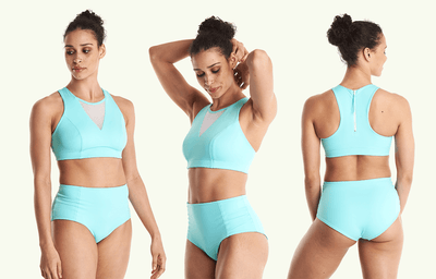 Swimbra High Waister Set Mint Blue - Hepburn