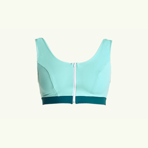 Swimcrop Bikini Top Mint Blue & Teal - Hendricks