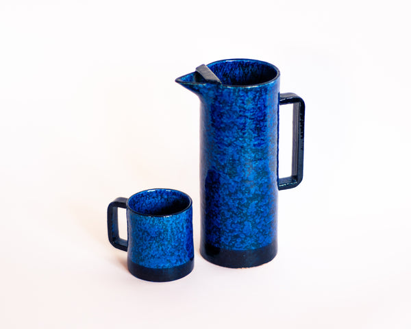 Mid-century Italian Ceramic Pitcher and Mugs