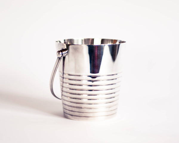 Christofle Art Deco Ice Bucket 'Ondulations' by Luc Lanel (1930s)