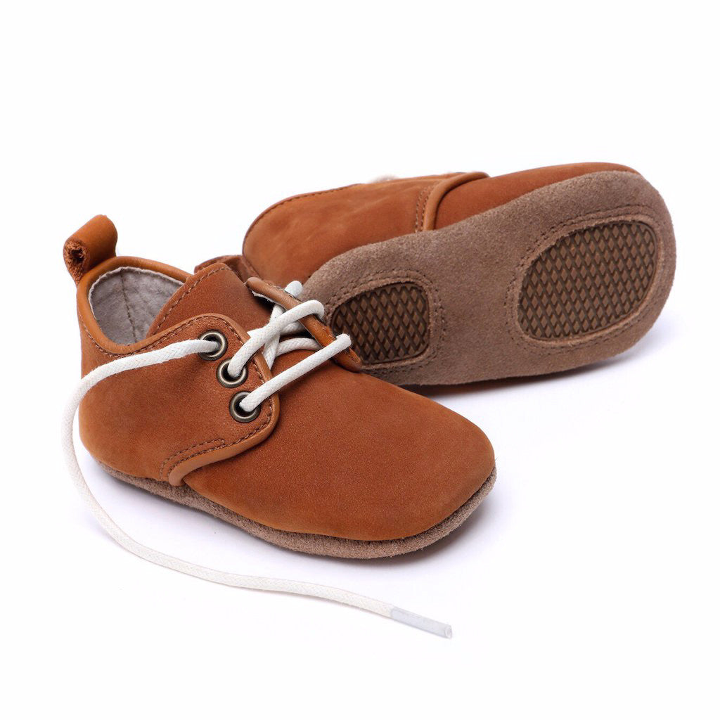 Oxford Nubuck Natural Leather Baby soft soled natural leather Shoes for Babies and Toddlers boy & girls - Kit t& Kate 12