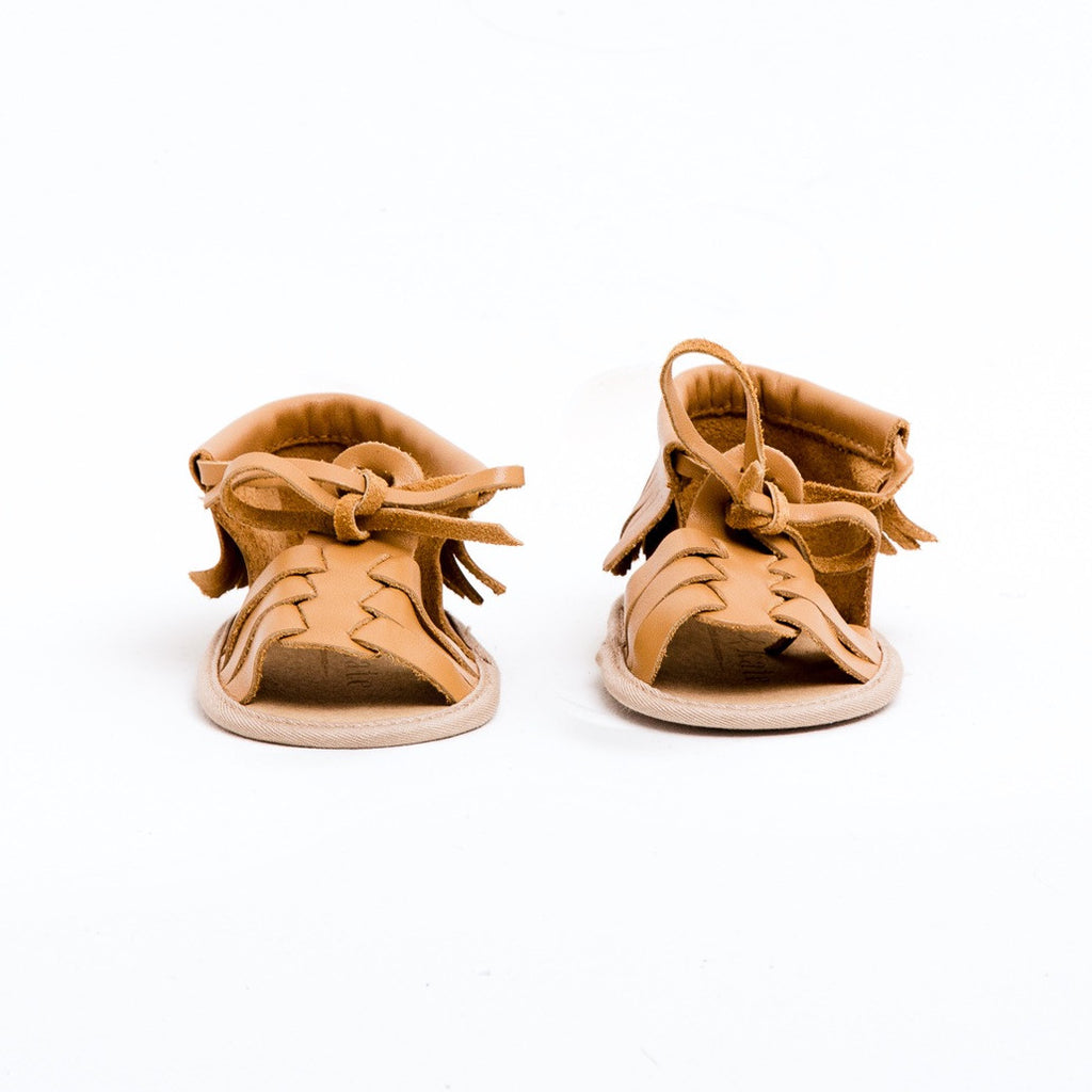 Baby Sandals - Cali Tan for babies toddlers and children, natural leather boys & girls, Kit & Kate Australia Perth 6
