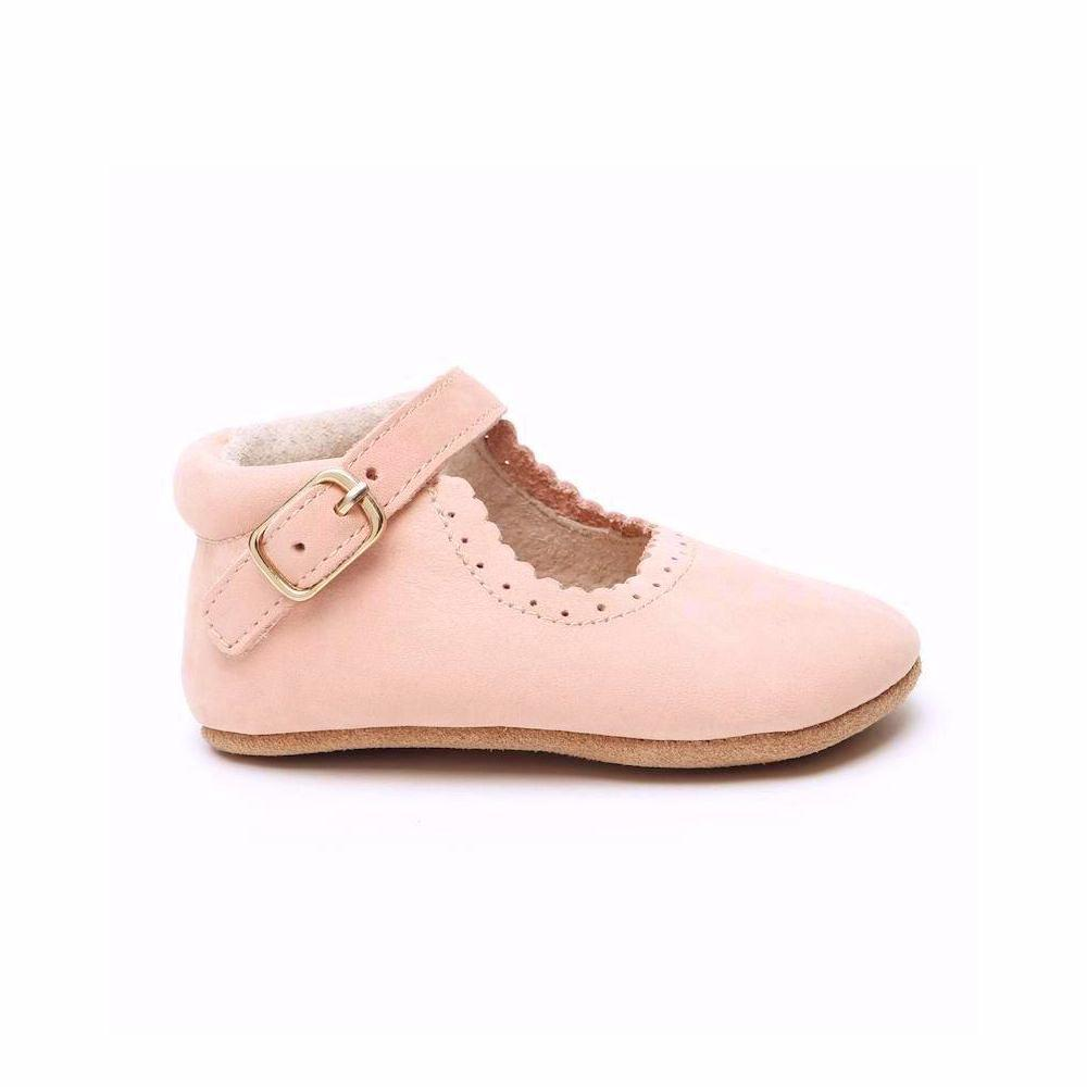 Eleanor Leather Baby Mary Jane Soft soled natural leather Shoes for Babies and Toddlers girls - Kit t& Kate 1