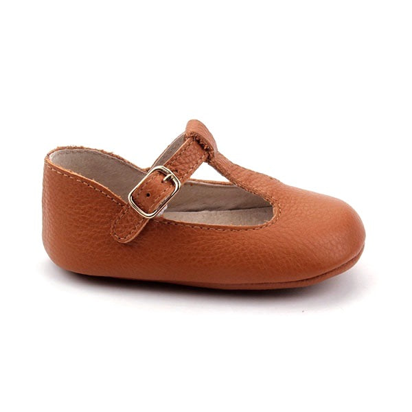Baby Shoes - Tan Paris baby t-bar shoes for babies & toddlers little girls,, soft soles natural leather Kit & Kate c30