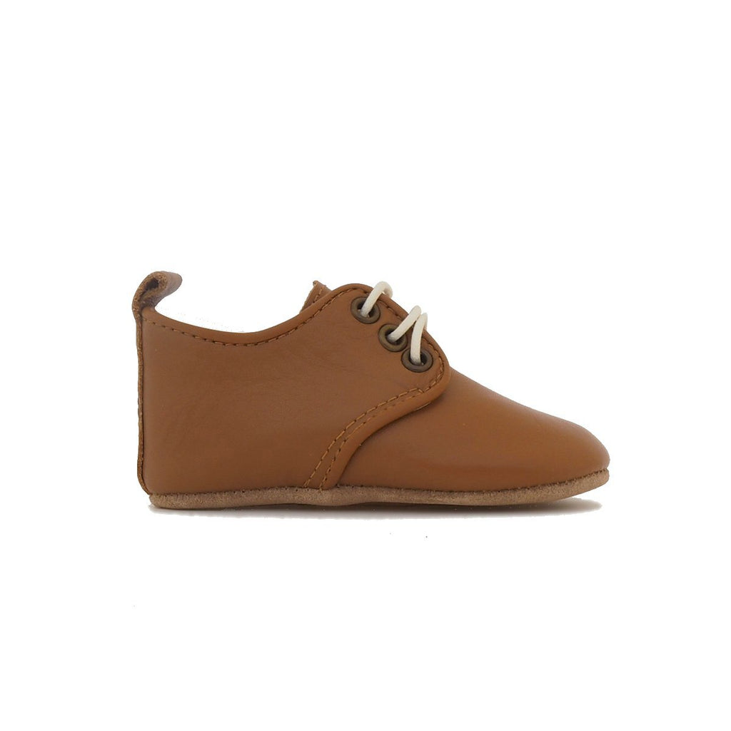 Baby Shoes - Caramel Oxford Shoes for Babies & Toddlers. Soft Soles Natural Leather Boys & Girls Kit & Kate 5