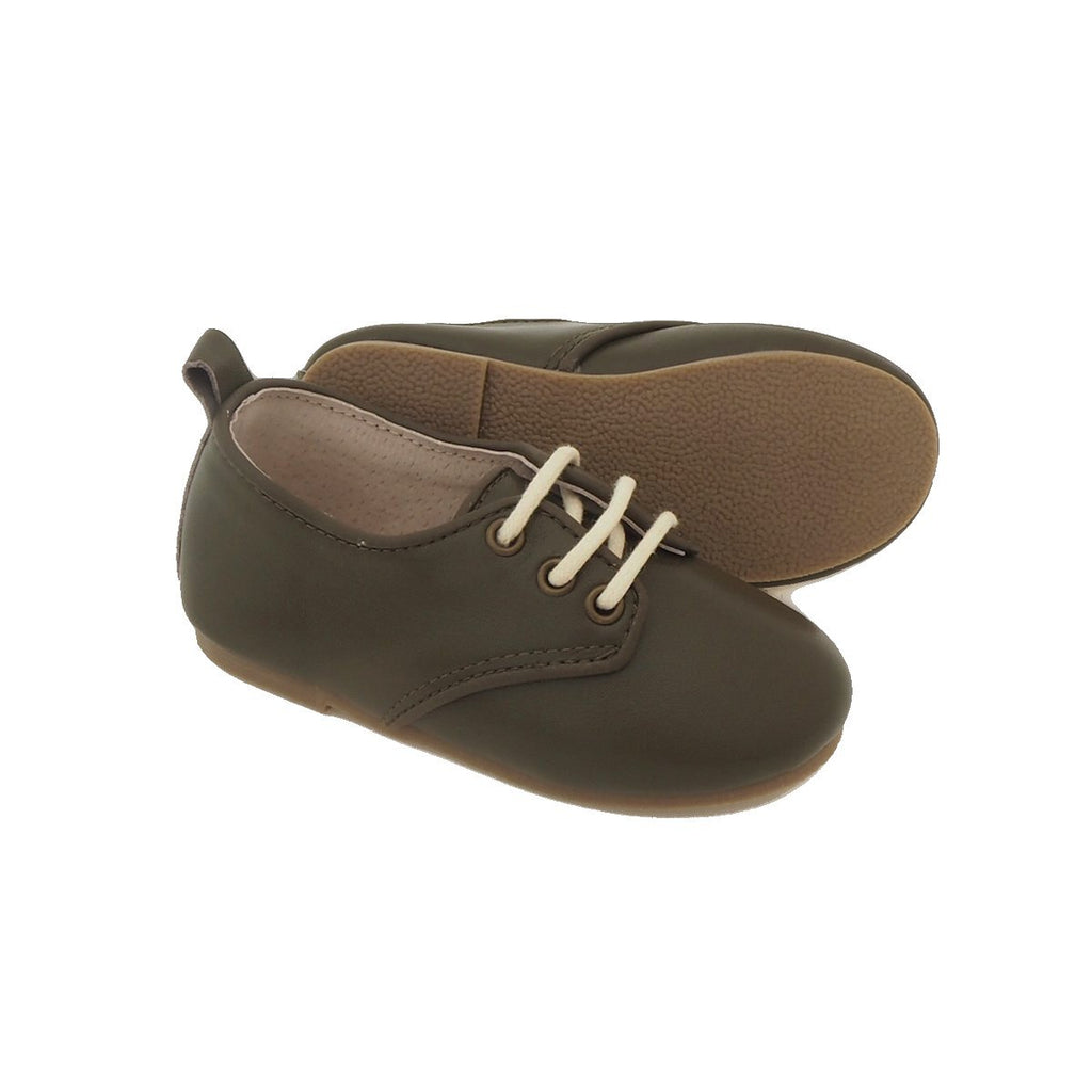 Children's Dark Green Oxford Shoes for Children & Kids. Natural Leather, super comfortable, quality, stylish boys & Girls Kit & Kate 20