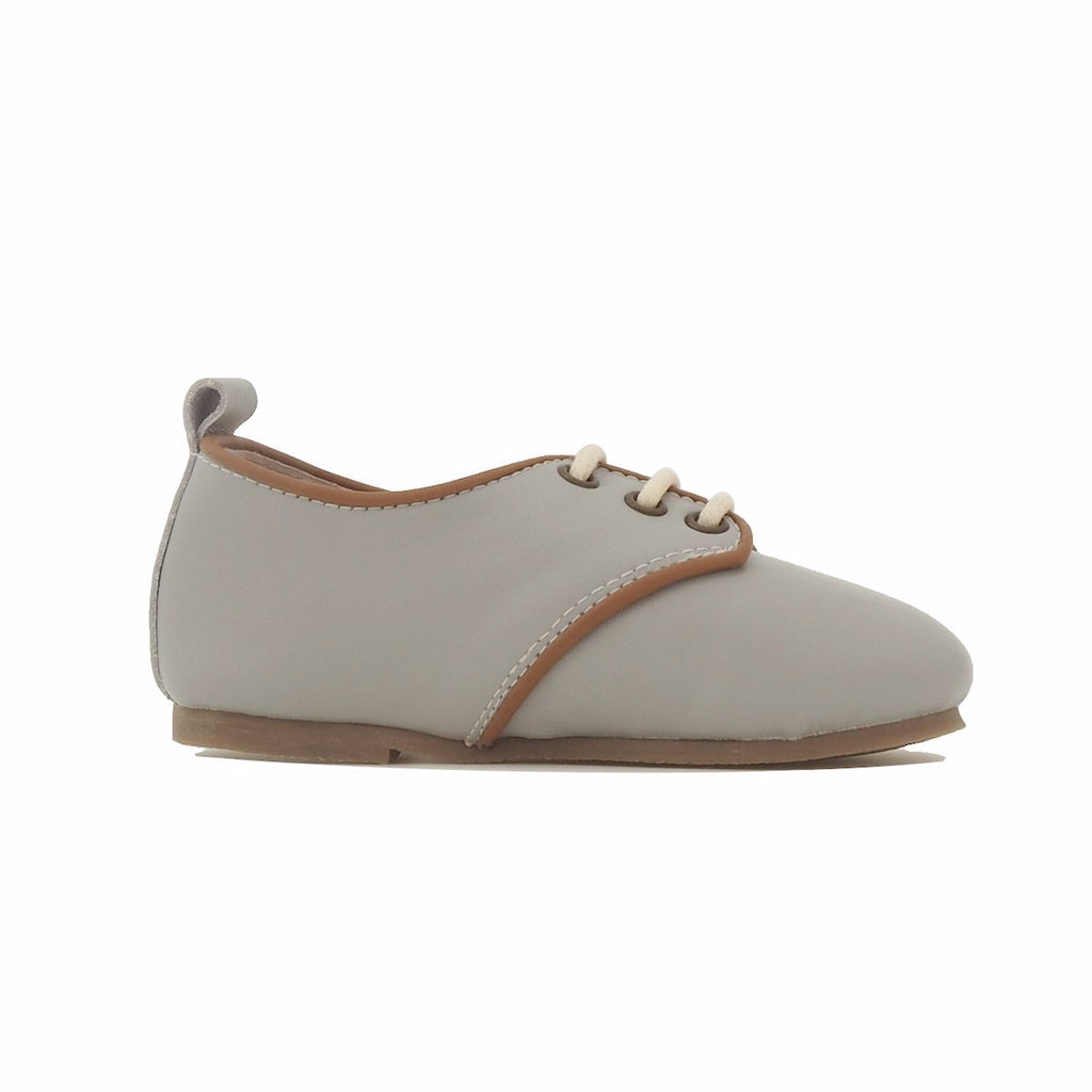 Children's Grey Oxford Shoes for Children & Kids. Natural Leather, super comfortable, quality, stylish boys & Girls Kit & Kate 2
