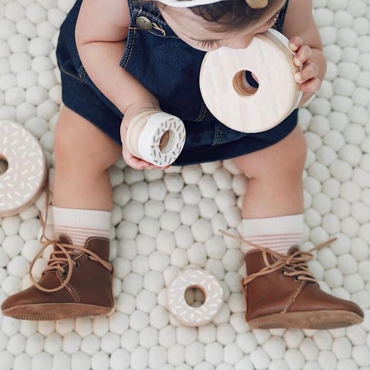 Baby Shoes - Aspen baby boots, shoes for babies & toddlers boy & girls, soft soles dark brown natural leather Kit & Kate 7