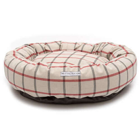 Nottingham Check Donut Dog Bed