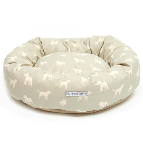 M&H Powder Blue Donut Dog Bed