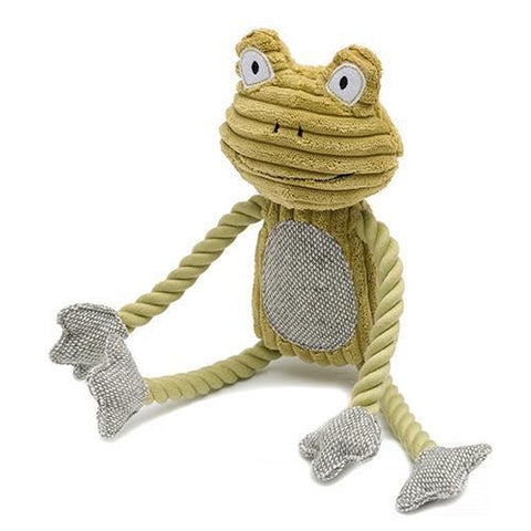 Fredrik Frog Plush Dog Toy