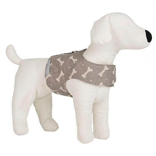 Mutts and Hounds Luxury M&H Mushroom Bone Linen Soft Harness