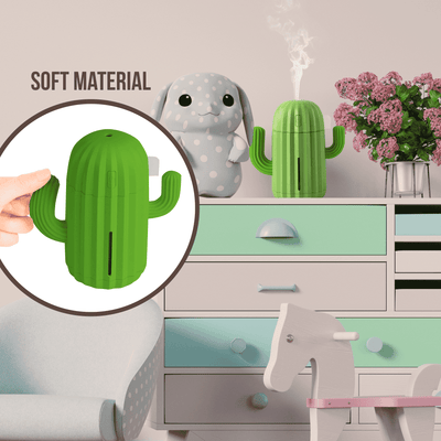 340ML USB Air Humidifier Cactus Timing Aromatherapy Diffuser Mist Maker Fogger Mini Aroma Atomizer for Home Oil Diffuser BargzOils