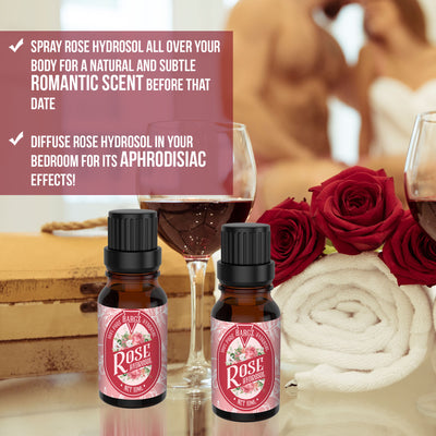 Rose Hydrosol Refreshing Aroma - Prevents Premature Aging, Beautifies Skin Natural Hair Growth Booster and Facial Toner BargzOils