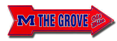 OLE MISS REBELS THE GROVE ARROW SIGN