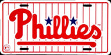 PHILADELPHIA PHILLIES LICENSE PLATE PINSTRIPED