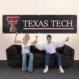 TEXAS TECH RED RAIDERS 8' X 2' BANNER 8 FOOT HEAVYWEIGHT SIGN UNIVERSITY MANCAVE
