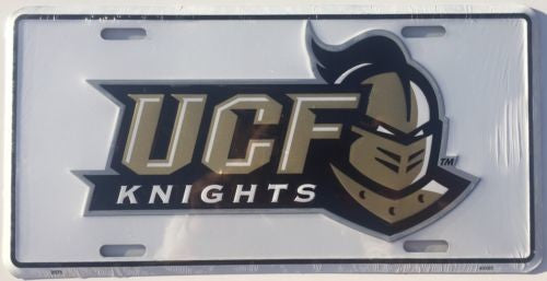 CENTRAL FLORIDA CAR TRUCK TAG LICENSE PLATE METAL UCF KNIGHTS SIGN UNIVERSITY