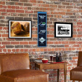 TAMPA BAY RAYS HERITAGE BANNER MLB MAN CAVE GAME ROOM OFFICE SIGN