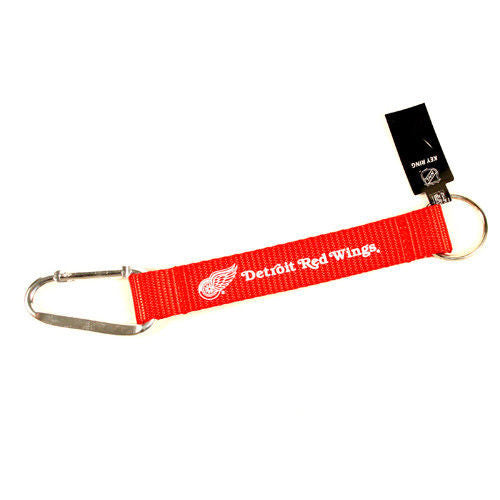 "DETROIT RED WINGS CARIBINER LANYARD KEYCHAIN  8"" NHL HOCKEY NEW! KEYRING"