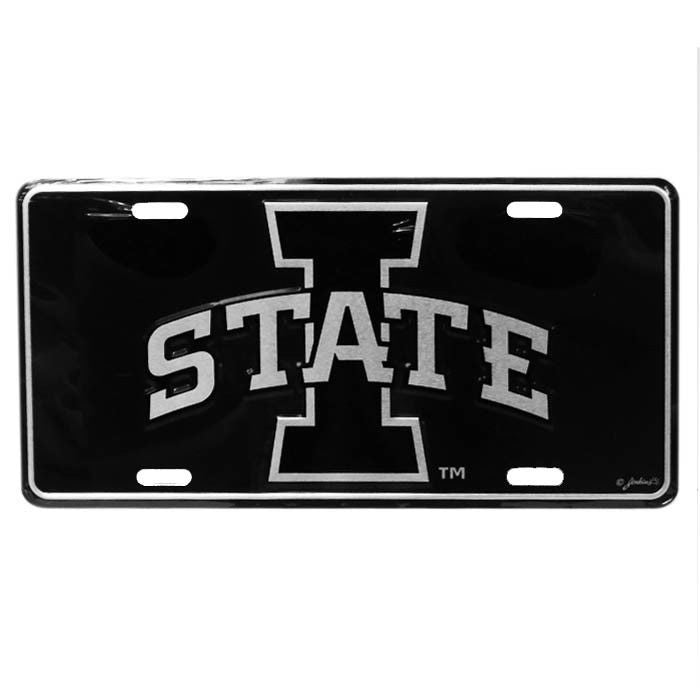 IOWA STATE CYCLONES ELITE CAR TRUCK TAG LICENSE PLATE BLACK SIGN UNIVERSITY