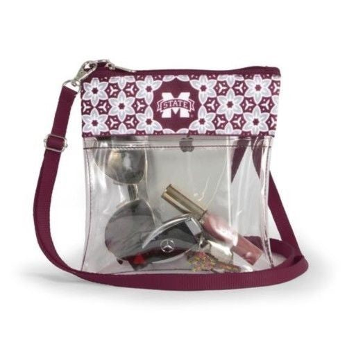 MISSISSIPPI STATE BULLDOGS CLEAR GAME DAY CROSSBODY BAG STADIUM APPROVED PURSE