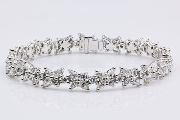 DIAMOND TENNIS BRACELET 14K WHITE GOLD