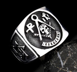 HOT SALE Stainless Steel Skull Master Mason Signet Ring - Free Masonic Ring RING - Masonic Jewelry Free Masonic Ring - FreeMasonicRing.com