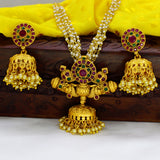 7 STRING CHAIN NECKLACE WITH JHUMKI