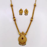 TEMPLE LEAF PENDANT NECKLACE SET