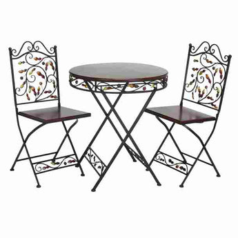 Bistro Table and Chairs Set Outdoor