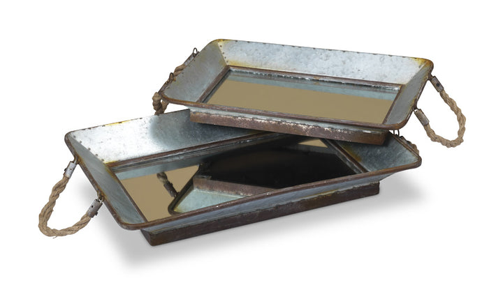 Mirror Trays with Rope Handles