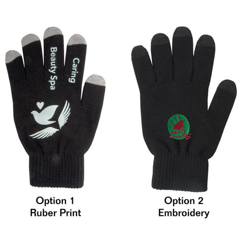 E-Z Import™ CU6356 Custom Coloured Touch Screen Gloves