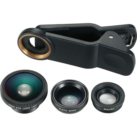 3-in-1 Clip-on Phone Lens Set