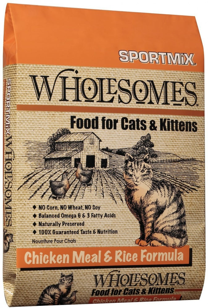 SPORTMiX Wholesomes Chicken Meal & Rice Recipe Dry Cat & Kitten Food - SPORTMiX | Peacebone