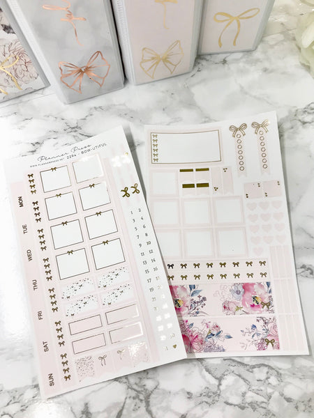 Pretty in Pink Hobonichi Weeks Sticker Kit with Gold Foil 2294 - Planner Press