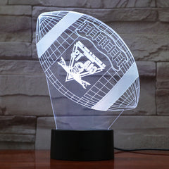 American Football 8 - 3D Optical Illusion LED Lamp Hologram